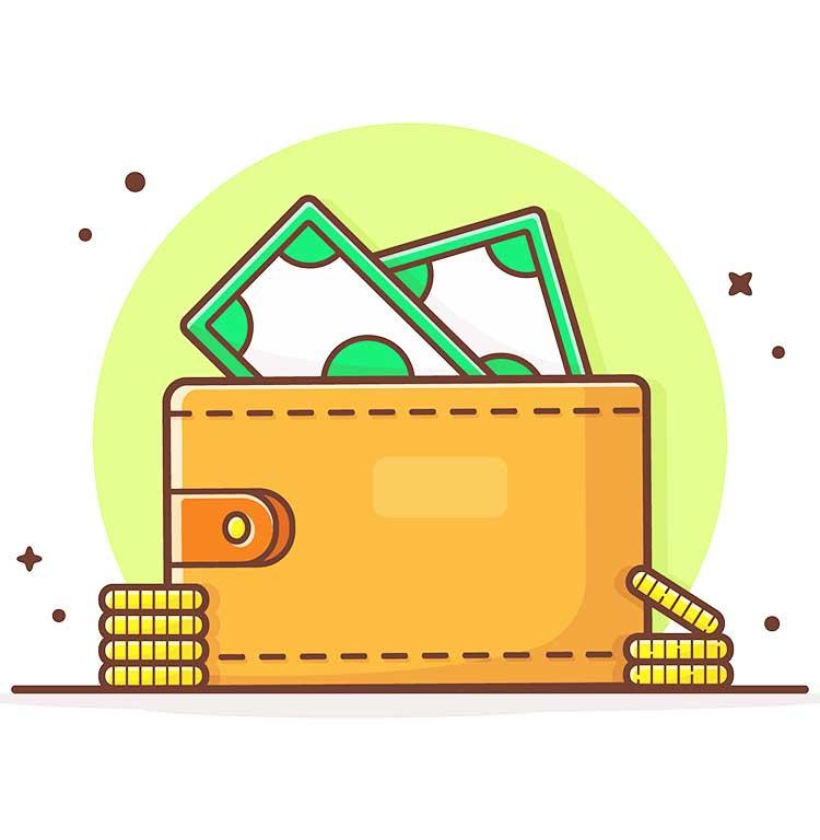 obrazek przedstawiający portfel z gotówką